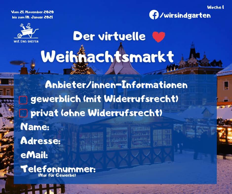Woche 1 virtueller Weihnachtsmarkt