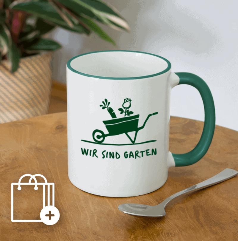 Wir sind Garten Tasse