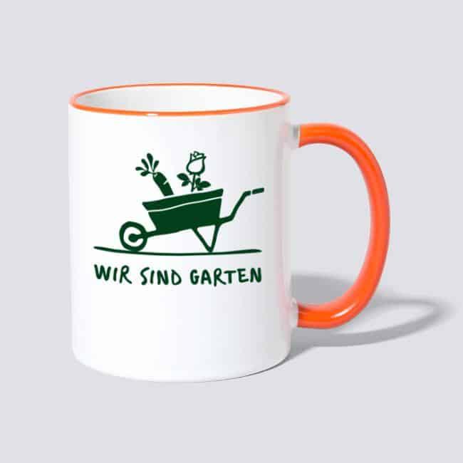 Wir sind Garten - Tasse zweifarbig